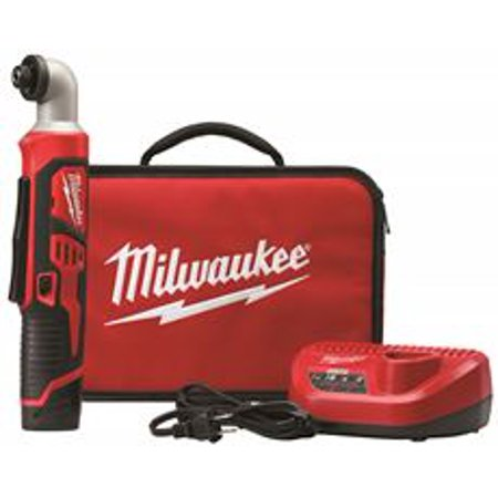 MILWAUKEE M12 12-VOLT LITHIUM-ION CORDLESS RIGHT ANGLE HEX IMPACT DRIVER KIT, 1/4 IN.