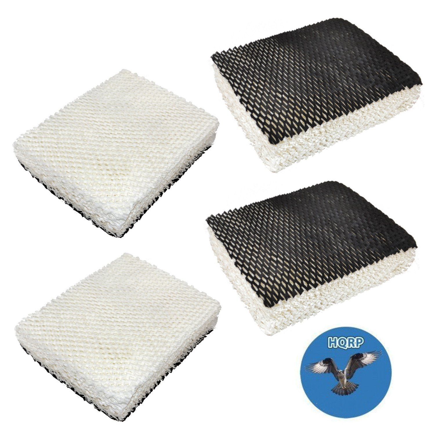 HQRP 4-pack Humidifier Wick Filter for Bionaire WH2510, WH2530, WH3060, WS3510, WS3560, WS3650-U, WS3560-X, WS3570 Humidifiers + HQRP Coaster