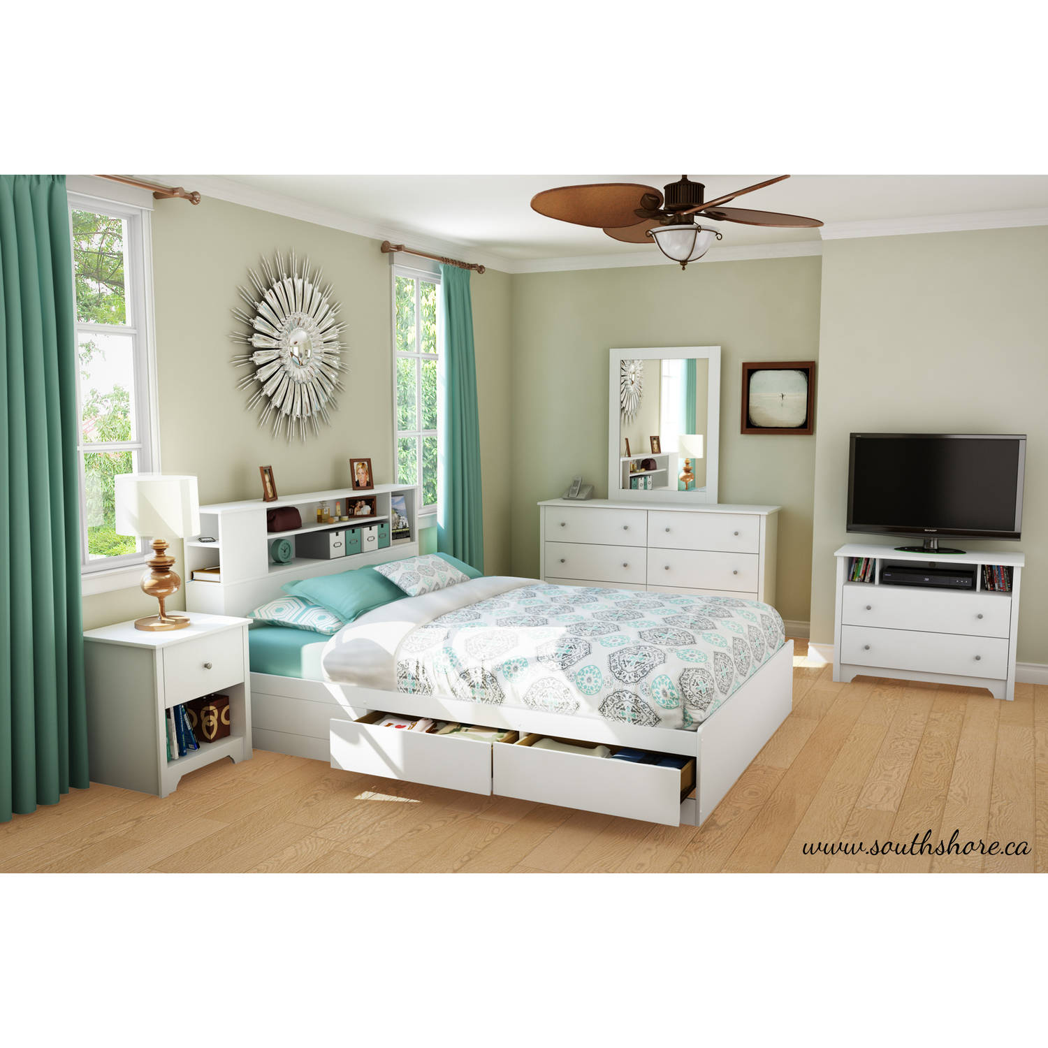 South Shore Vito 6 Drawer Double Dresser, Multiple Finishes   Walmart.com