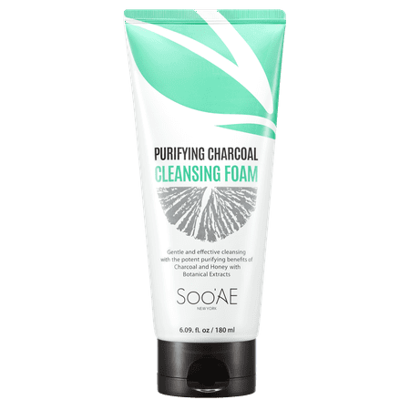 SooAE Purifying Charcoal Cleansing Foam 6.09 fl oz