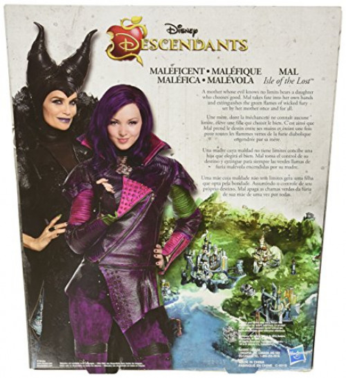 Disney Descendants Mal Isle of The Lost and Maleficent 2 Pack Kid Toy Gift