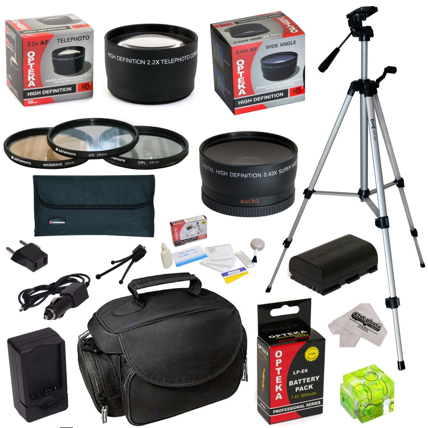 Opteka Must Have Kit For Canon EOS 5D Mark 2 3 II III 6D ...