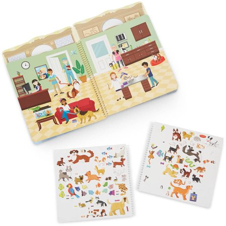 Melissa & Doug Puffy Sticker Activity Book, Pet Place