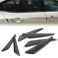 GZYF 6PCS Black Carbon Fiber Car Door Protective Strip Anti-collision For Mercedes Benz