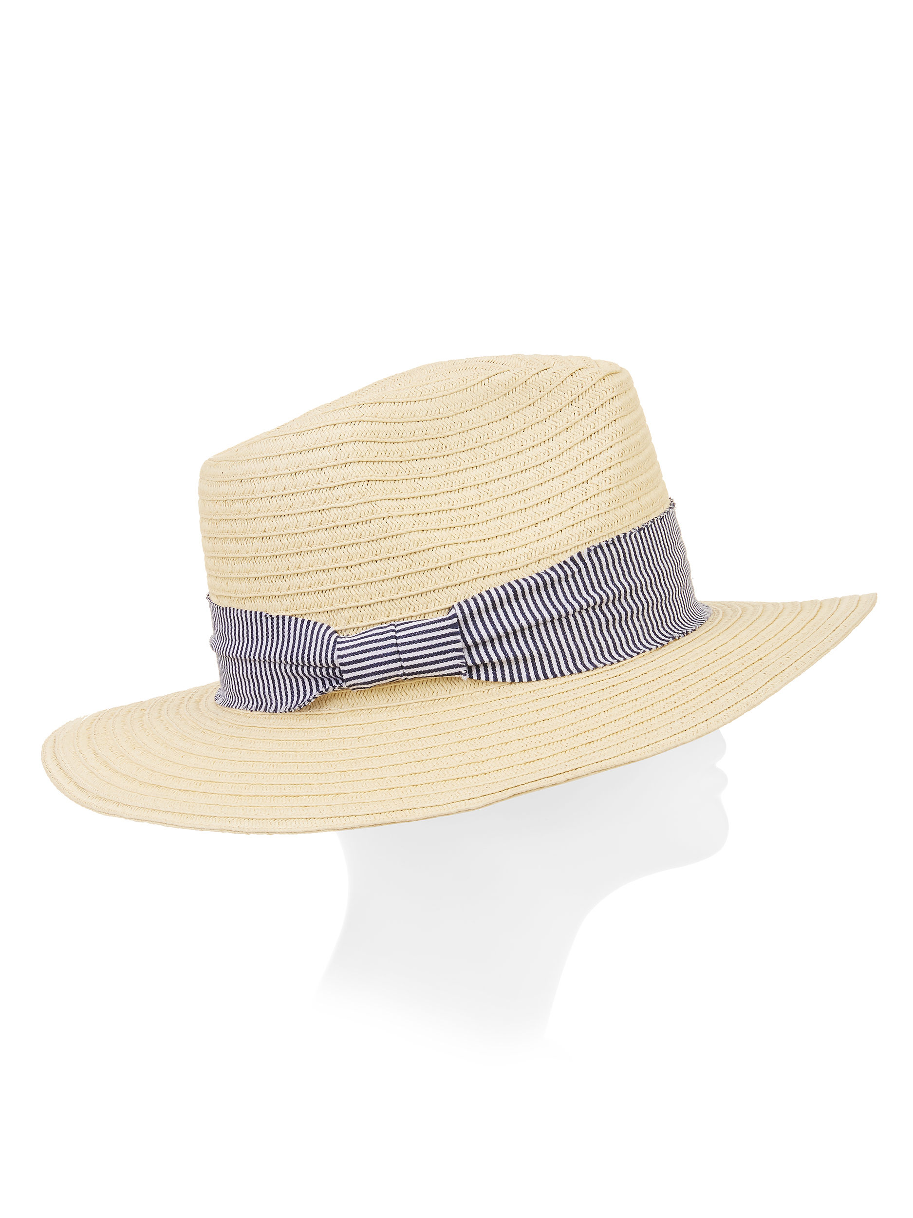 Eliza May Rose Women's Rancher Hat With Striped Fabric Detail