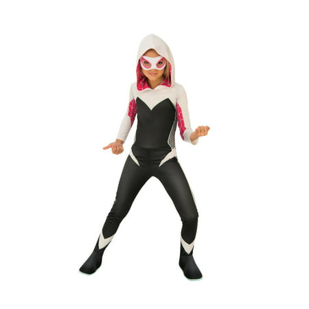 Black Pug Spider Costume (Halloween Marvel Rising: Secret Warriors Spider Gwen/Ghost Spider Child)