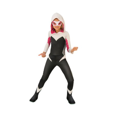 Halloween Marvel Rising: Secret Warriors Spider Gwen/Ghost Spider Child Costume - Face Painting Spider Halloween