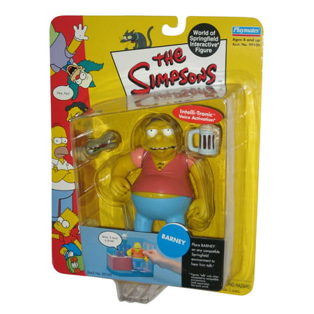 The Simpsons Wave 2 Barney Gumble Playmates Action Figure