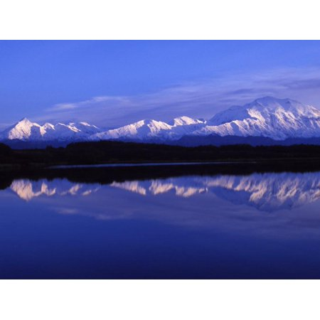 Mount Mckinley from Reflection Lake, Denali National Park, Alaska, USA Print Wall Art By John (Reflection Lake Alaska)