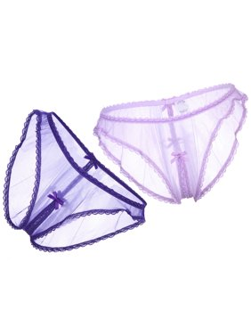 9cf6bb69d5f3 Product Image SO SEXY LINGERIE (TM) 2-Pack Sheer Hipster Open Crotch Panties,  Lavender