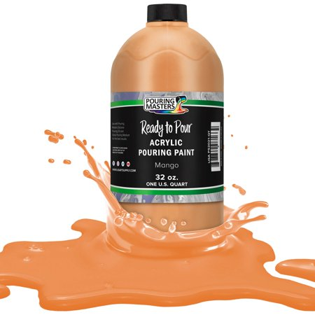 Pouring Masters Mango Acrylic Ready to Pour Pouring Paint – Premium 32-Ounce Pre-Mixed Water-Based