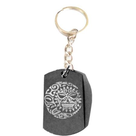- SUN Moon Star Celestial Celtic Tribal Tattoo Logo Symbols - Metal Ring Key Chain Keychain