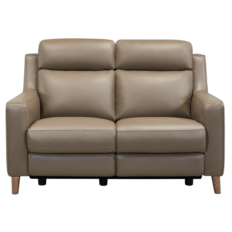 Juliette Taupe Contemporary Top Grain Leather Power