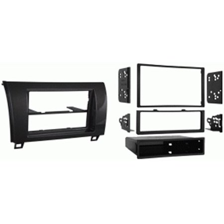 - Metra 99-8220CHG Single/Double DIN Dash Installation Kit for 2010-Up Toyota Tundra Vehicles (High Gloss Charcoal)