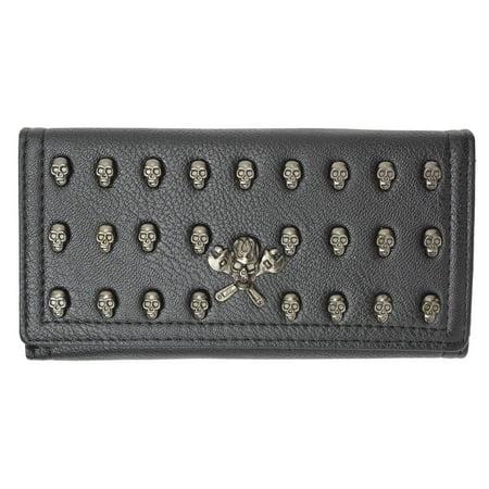 Womens New Fashion Skull Design Clutch Credit Card ID Holder Wallet 137-01