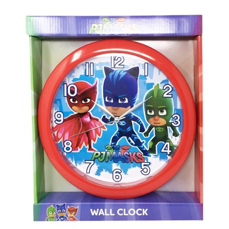 Pj Masks Owlette Gekko Clock Room Decoration Mount Clock for Kids