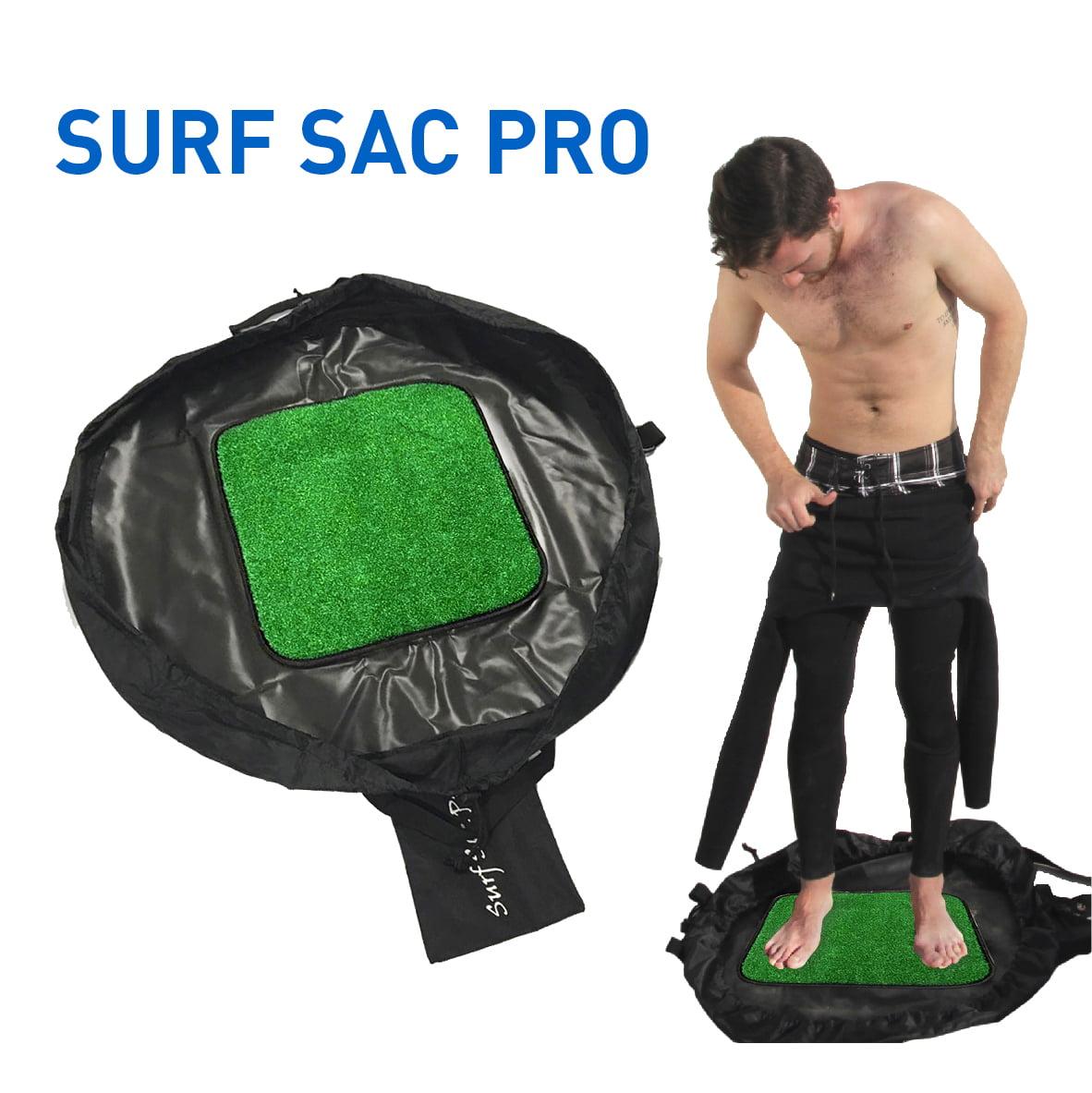 Surf Sac Wetsuit Changing Mat - Large Waterproof Surf Bag with Drawstring, use as Wetsuit Bag - BONUS Shoulder Strap