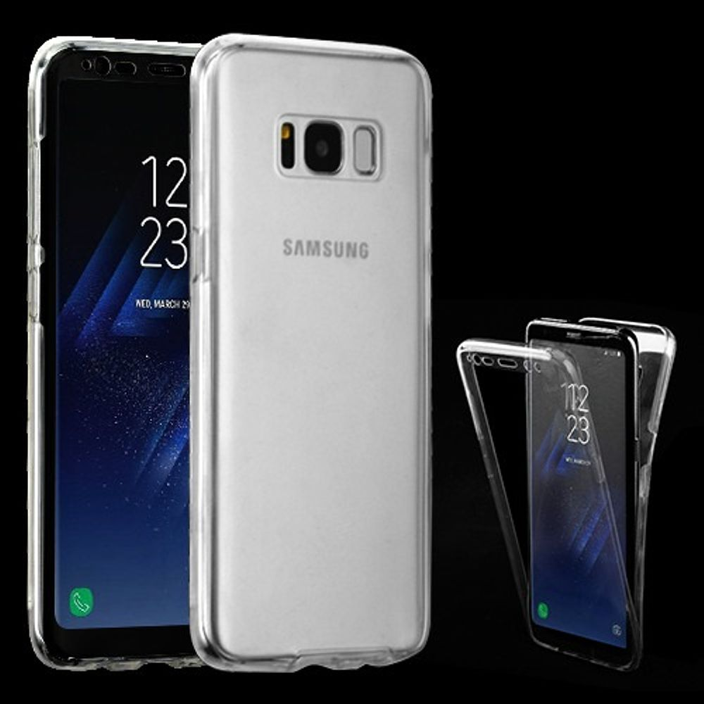 Insten Gel Dual Layer Cover Case For Samsung Galaxy S8 Plus - Clear (Bundle with USB Type C Cable)