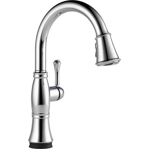 Delta Cassidy Touch Activated Kitchen Faucet with Pull-Do...