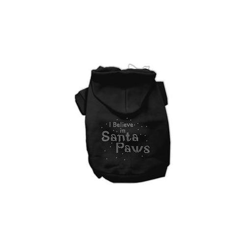 I Believe in Santa Paws Hoodie Black XXXL(20)