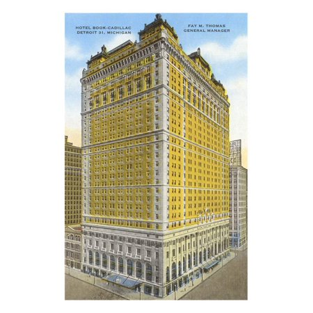 Hotel Book-Cadillac, Detroit, Michigan Print Wall Art