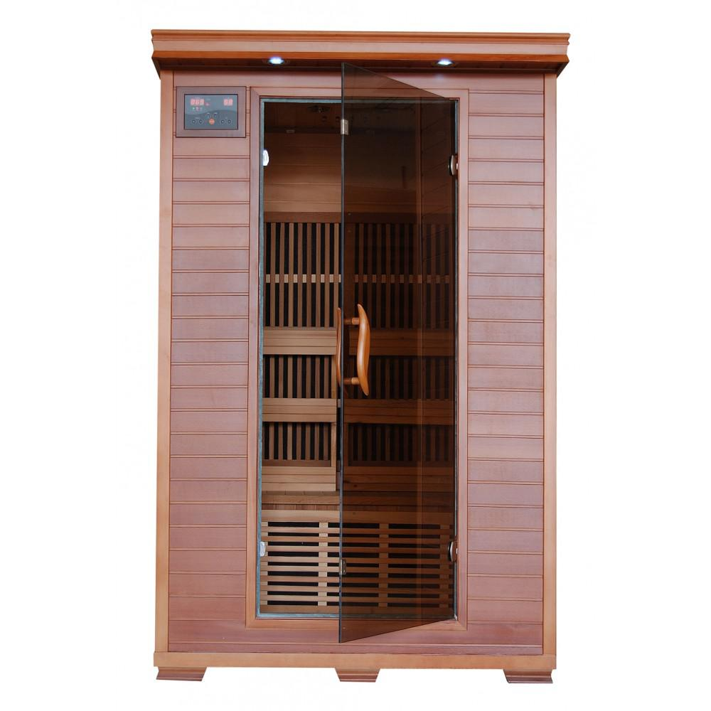 BlueWave SA1309 Yukon-Cedar 2 Person FAR Infrared Sauna With Carbon Heaters by HeatWave