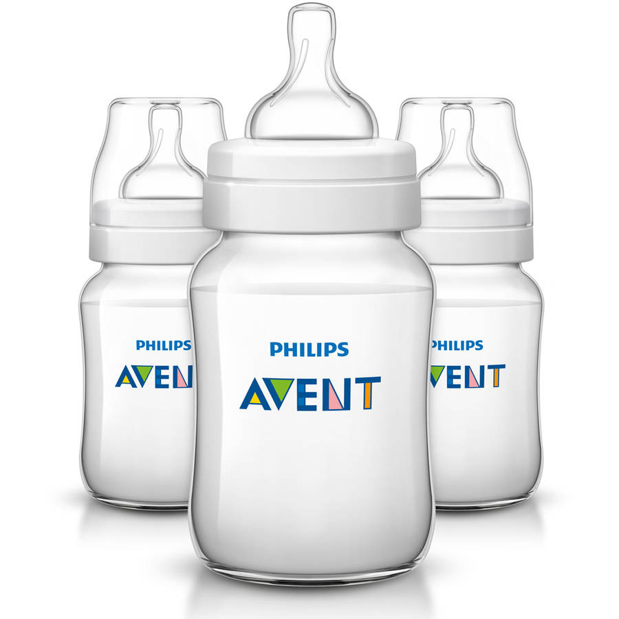 Philips Avent Anti Colic BPA Free Baby Bottles 9oz Clear 3 ct