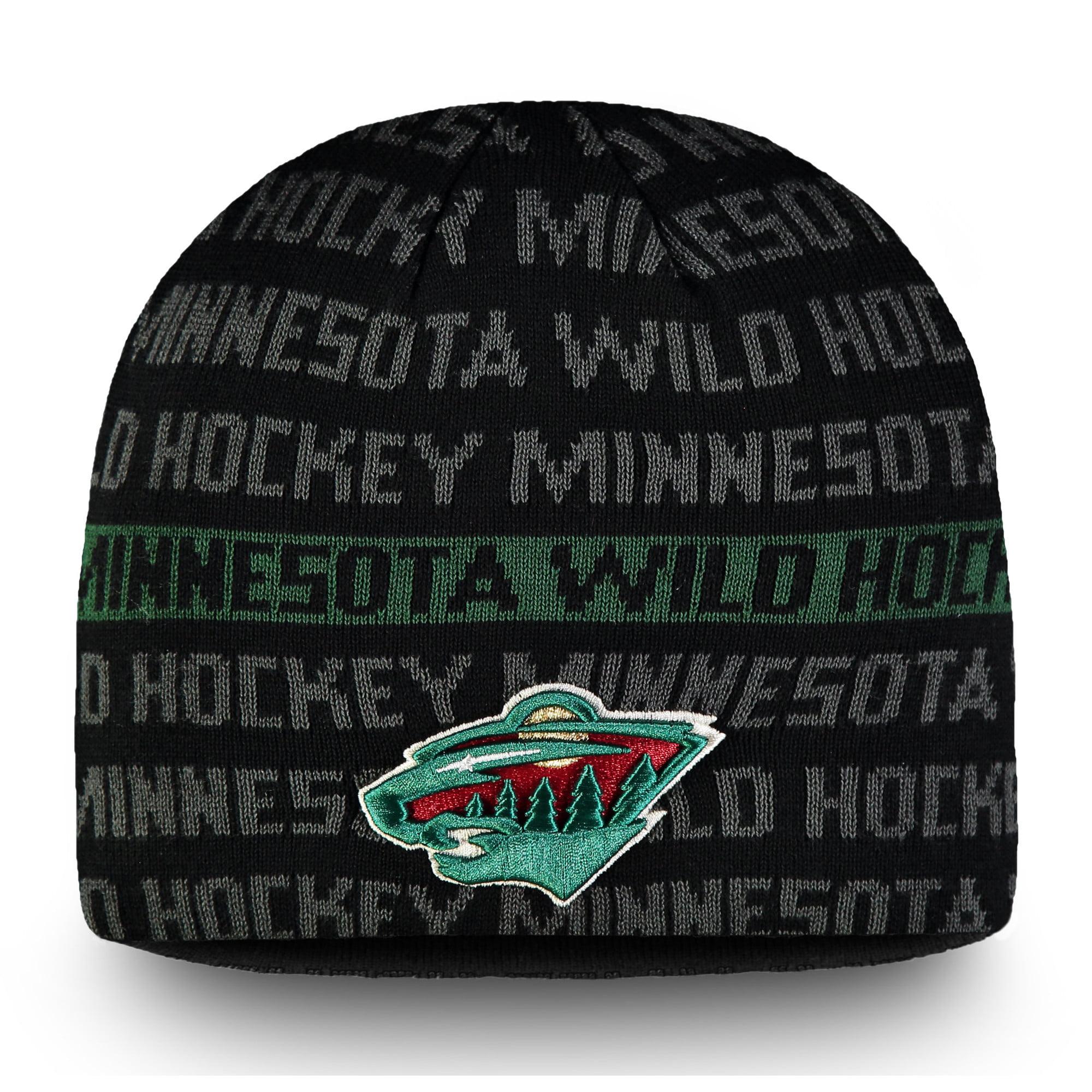 Minnesota Wild Fanatics Branded Authentic Pro Rinkside Knit Beanie - Black/Green - OSFA