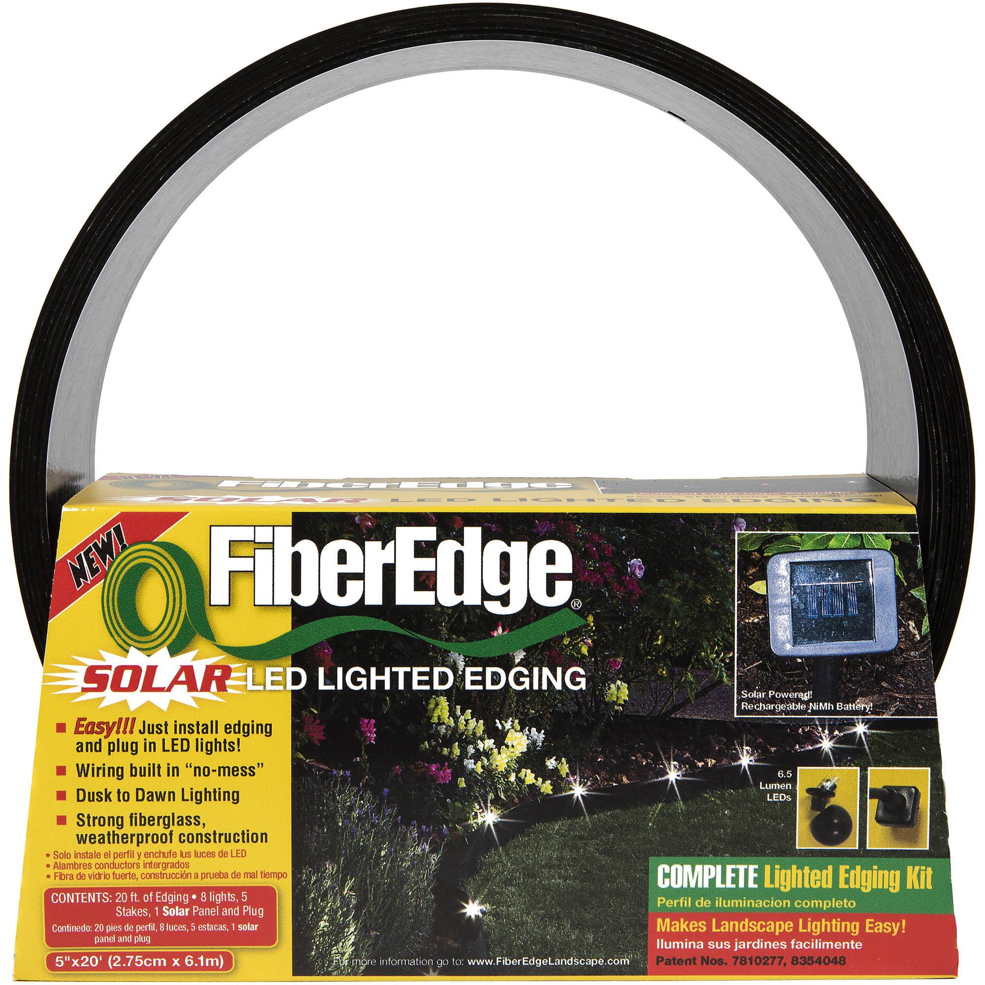 Fiberedge Solar Led Lighted Landscape Edging 5 X 20 Black Light Circuit Images Buy Fiberglass
