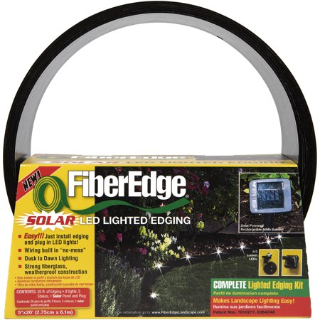 FiberEdge Solar LED Lighted Landscape Edging, 5