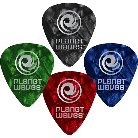 D'Addario Planet Waves 10 Standard Celluloid Picks Heavy Red Pearl