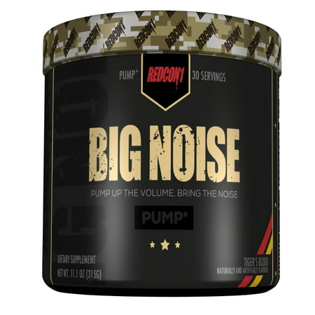 Redcon1 Big Noise 30 Servings N.O. Pump Formula Stimulant-Free Pre-Workout Tiger's