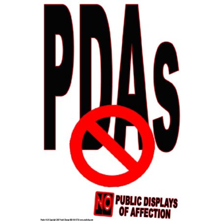 Youth Change Poster #119 Classroom Rules Poster: No Public Displays of Affection
