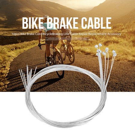10pcs Bike Brake Cord Bicycle Braking Line Cable Repair Replacement Accessory, Bike Brake Line,Bike Brake Cord