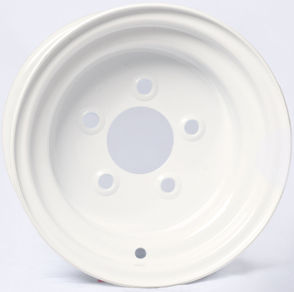 "Trailer Wheel White Rim 10 x 6 Conventional Style (5 Lug On 4.5"")"