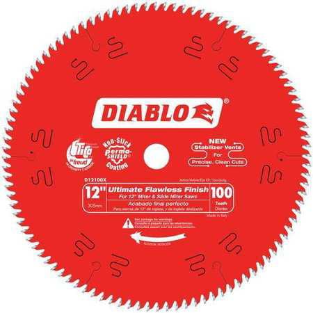 "Circular Saw Blade, 12"" Blade Dia., 100 Teeth DIABLO D12100X by DIABLO"