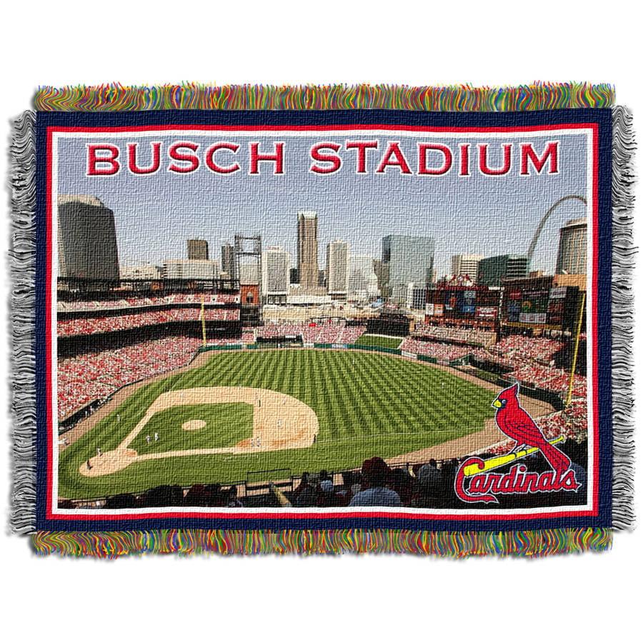 "MLB 48"" x 60"" Stadium Series Tapestry Throw, St. Louis Cardinals New Busch Stadium"