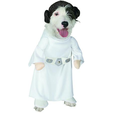 Classic Star Wars Princess Leia Pet Dog White Costume - Luke And Leia Costumes