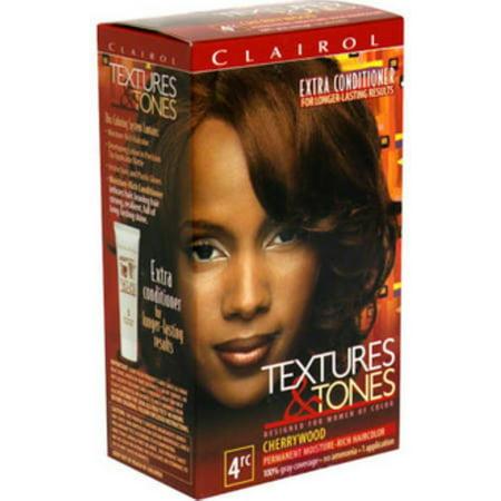 Clairol Textures & Tones Permanent Moisture-Rich Hair Color, 4RC ...