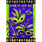 Carson Home Accents FlagTrends Classic Garden Flag, Mardi Gras Fun