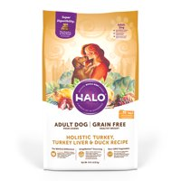 Halo Grain Free Natural Healthy Weight Dry Dog Food, Turkey, Turkey Liver & Duck Recipe, 14-Pound Bag
