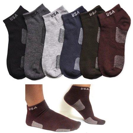 12 Pair Men Women Sport Ankle Quarter Socks Crew Usa Spandex Dress Ped Size 9-11