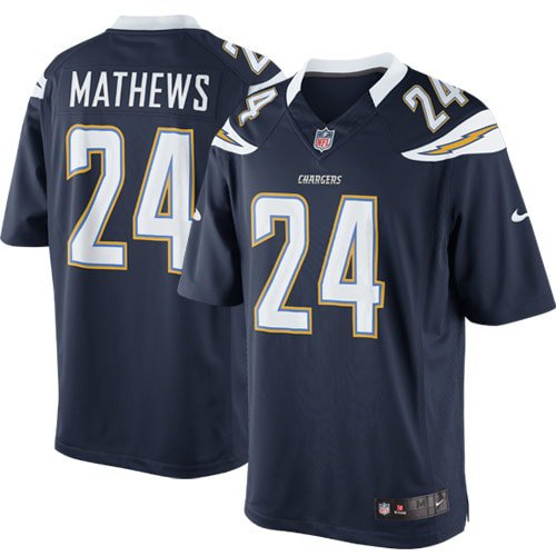 Ryan Mathews San Diego Chargers Nike Team Color Limited Jersey - Navy Blue