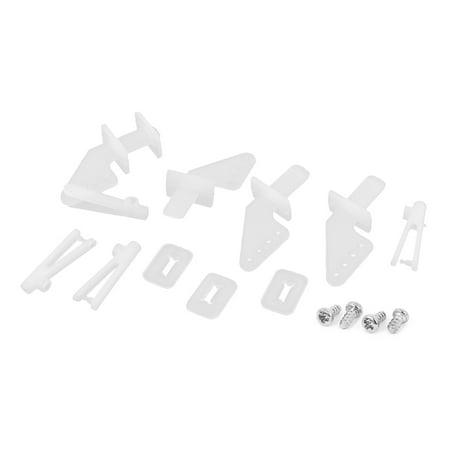 Unique Bargains 4 Set of White Nylon 4Holes Control Horns for RC Model Toy Plane Car (Rc Model Plans)