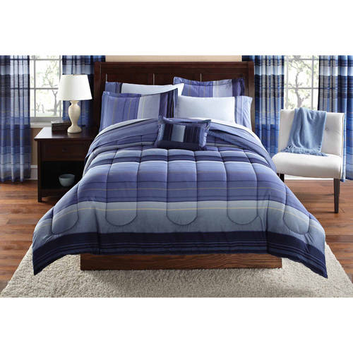 Mainstays Coordinated Bedding Set, Ombre Stripe