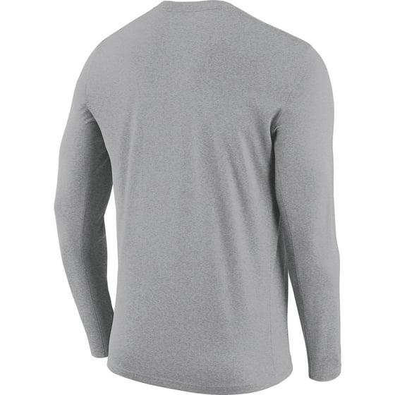 3443933e6ac Golden State Warriors Nike Essential Facility Slub Performance Long Sleeve  T-Shirt - Heathered Charcoal - Walmart.com