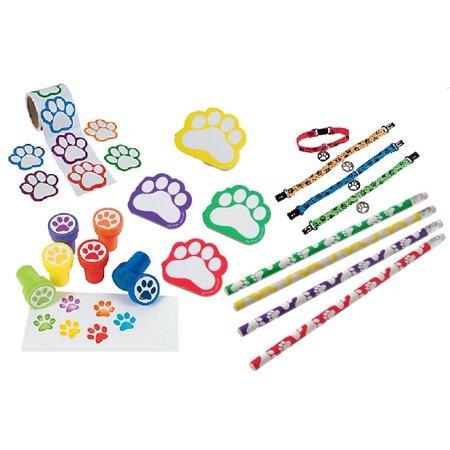 Puppy Love Paw Print Favor Bundle for 12 (Leopard Print Favors)