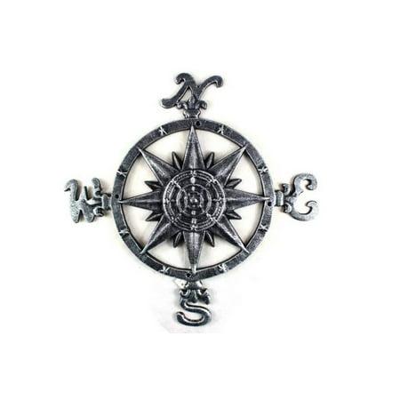 Antique Silver Cast Iron Large Compass 19