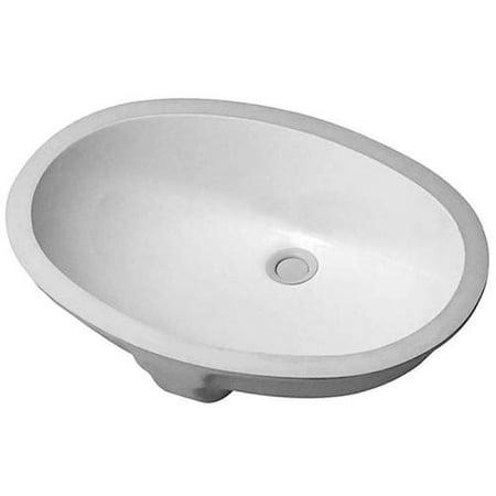 Duravit 466510000 Vanity Basins 21 15 32 Ceramic Undermount Bathroom Sink With Overflow