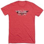 Dark Knight Beveled Chrome Shield Mens Tri-Blend Short Sleeve Shirt